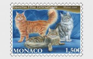 Stamps Monaco 2021 - International Cat Show - Mint.