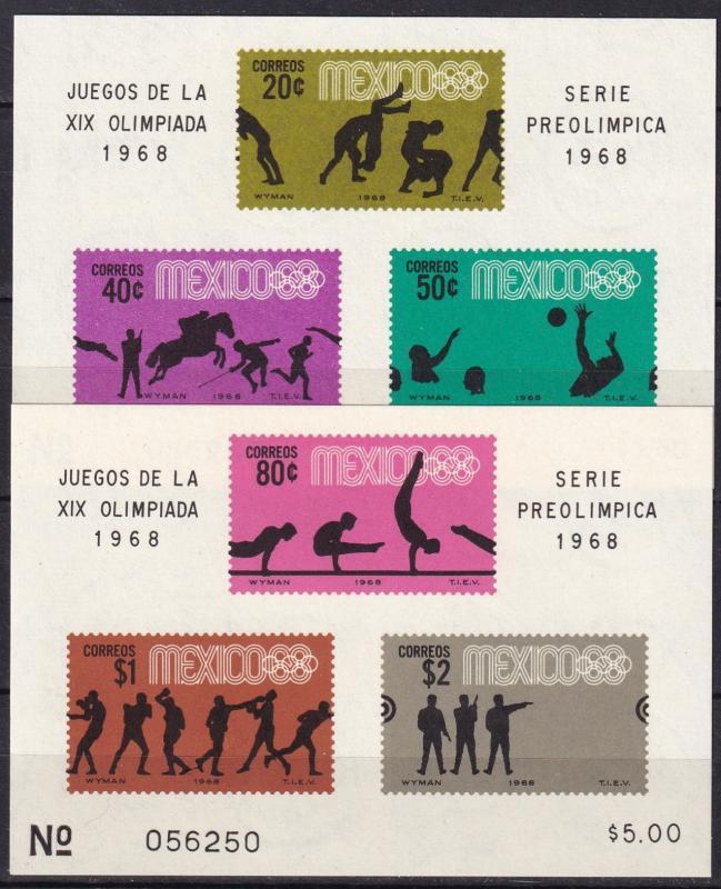Mexico #992a, 995a  MNH  CV $14.50 (A19017)