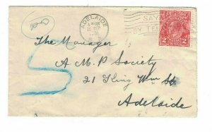 APH1470) Australia 1931 2d Red KGV Die I Small Cover