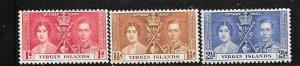British Virgin Islands #73-75 Coronation (MH) CV$2.20