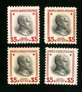 US Stamps # 834 VF Lot of 4 OG NH Scott Value $300.00