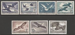 AUSTRIA SG1215/21 1950 BIRDS MNH