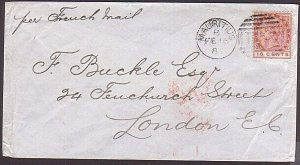 MAURITIUS 1886 12c on cover to London ' Per French Mail '..................35999