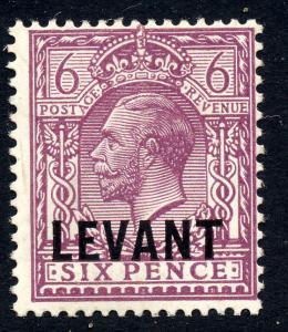 British Levant 1921 sg L22 6d dull purple, fine mint