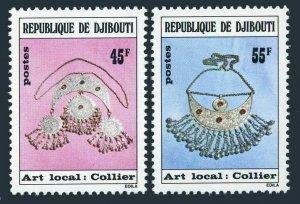 Djibouti 475-476,MNH.Michel 218-219. Necklace,1978.