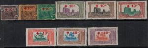 Tunisia 1916 SC B3-B11 MNH $350.00 Set