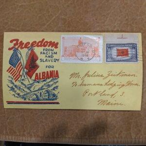 U.S. WWII Patriotic Cover, CV $12