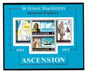 Ascension Is 163a MNH 1972 Sir Ernest Shackleton S/S