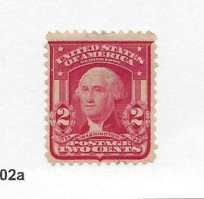 United States, 319, 2c Washinton Carmine F-VF Single, **MNG** 1