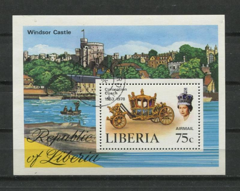 Liberia 1978 Sheet Sc C221 U Windsor Castle Coronation Coach