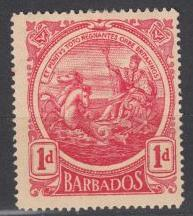 Barbados - 1916 1p Seal of the Colony - MH    (726)