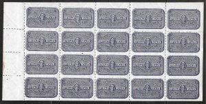 USA OX14b: Officially Sealed, sheet of 20, MNH, F-VF