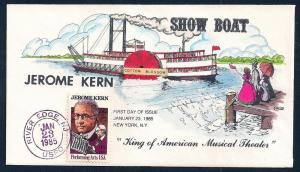 UNITED STATES FDC 22¢ Jerome Kern 1985 Collins H-P