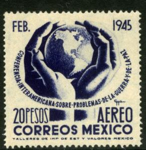 MEXICO C147, $20P Conference on War & Peace. UNUSED, H OG..