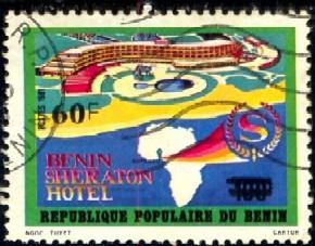 Benin Sheraton Hotel, Benin stamp SC#509 used