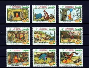 ANGUILLA - 1982 - DISNEY - CHRISTMAS - WINNIE THE POOH - TIGGER ++ 9 X MNH SET!