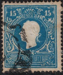 Austria-Lombardi Venetia  SC 12 Used 1858 SCV$ 125