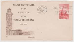 1949 Cuba Stamps Sc 432 Fort El Morro Lighthouse  FDC
