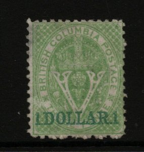 British Columbia #18 Very Fine Mint Artfully Regummed To Look Never Hinged