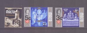Malta 1972  MNH the three surcharges