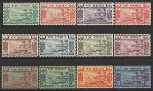 NEW HEBRIDES 1938 Pictorial set 5c-10Fr. MNH **.