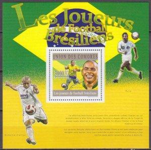 2010 Comoro Islands 2830/B596 2010 World championship on football South Africa 1