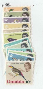 GAMBIA # 175-187 VF-MNH BIRDS Missing # 187 CAT VALUE $52++++