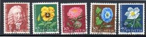 SWEDEN B277-B281 USED SCV $7.90 BIN $3.15 FLOWERS
