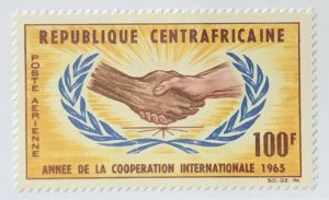 Central African Republic #C26 MH CV$1.60 Int'l Cooperation Year/Hands