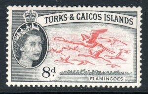 Turks & Caicos  1957-62 ..    sg 245 . 8d  -  MM