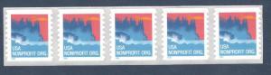 3693 Sea Coast Strip Of 5 Mint/nh (Free Shipping)