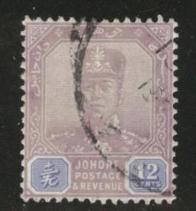 Malaya Jahore Scott 111 used 1921-40
