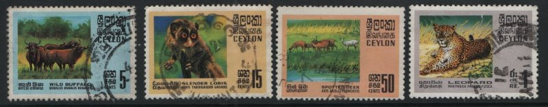 CEYLON, 439-442, (4) SET, USED, 1970, Animal type