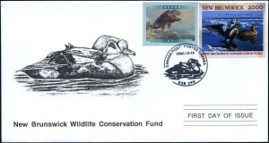 2000 New Brunswick Wildlife King Elder Duck by C Fisher