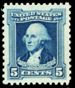 710, Mint Superb NH 5¢ JUMBO MARGINS! GEM Stamp! - Stuart Katz