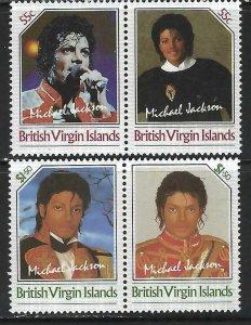 BRITISH VIRGIN ISLANDS 1985 MNH MICHAEL JACKSON C91