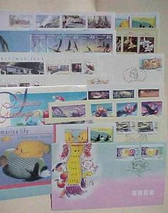 CHRISTMAS ISLAND 13 DIFF. FDC FACE VALUE $22.00 CACHET UNADDRESSED 1993-1995