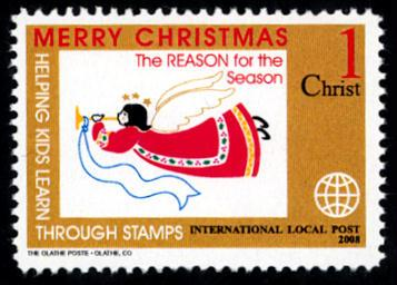 Christmas Angel - Intl. Local Post Stamp - MNH - Cinderella