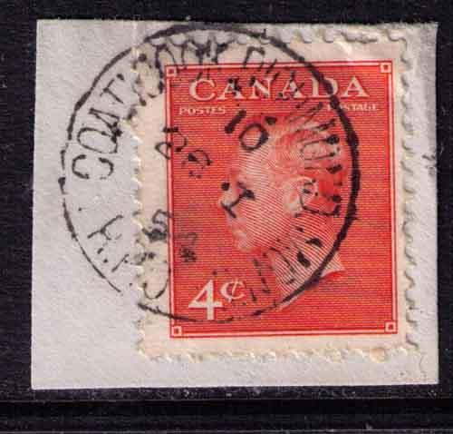 Canada # 306  Used  F & VF RPO #  QC16  RF-E cancel