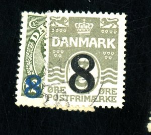 DENMARK #162-3 USED FVF Cat $20