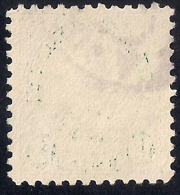 622 13 cent Harrison, Green Stamp used EGRADED SUPERB 99 XXF