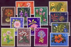Sierra Leone stamp Flowers MNH 1963 Mi 208-220 WS115614