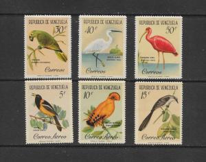 BIRDS - VENEZUELA #798-800, C776-8   MNH