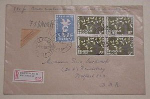 BELGIUM  COD TRIANGLE 1952 BRUSSEL TO GERMNAY DDR
