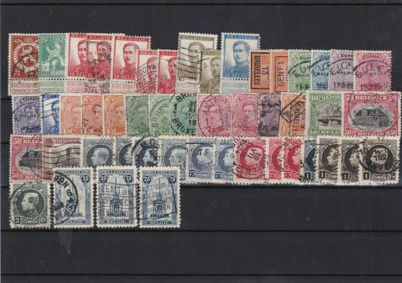 belgium early+malmedy stamps ref 10401