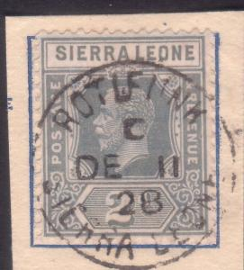 SIERRA LEONE 1928 GV 2d on piece ROTIFUNK cds..............................60254