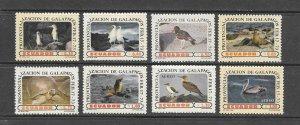 BIRDS - ECUADOR #870-5,C527-8  GALAPAGOS   MH