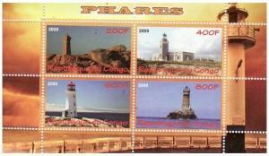Lighthouses -  Sheet of 4  - SV0522