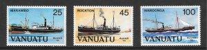 Vanuatu 377-9 Ships / Ausipex '84 VF MNH