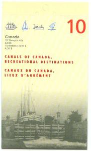 Canada - 1998 Canals Booklet Complete mint #BK208a